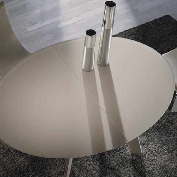 AMEUBLEMENT HYORIS METZ-TABLE DE REPAS OVALE MOON