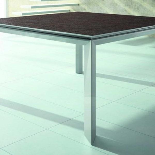 AMEUBLEMENT HYORIS _METZ TABLE DE REPAS SYLVIA 125X125