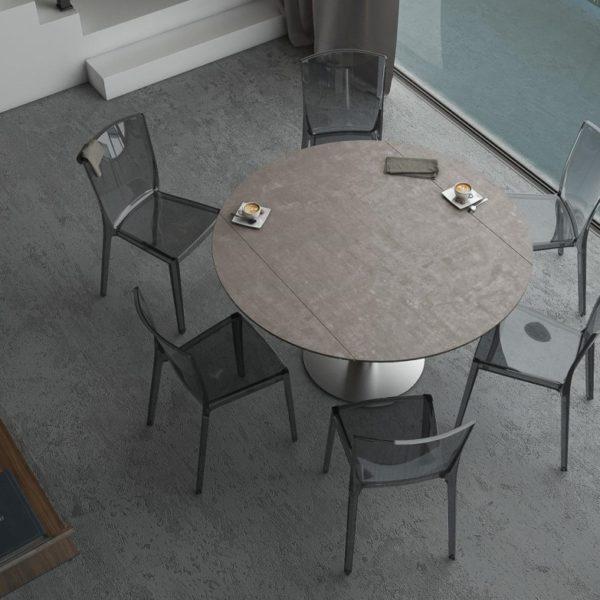 HYORIS TABLE DE REPAS LUNA D 135 CERAMIQUE ARGILE
