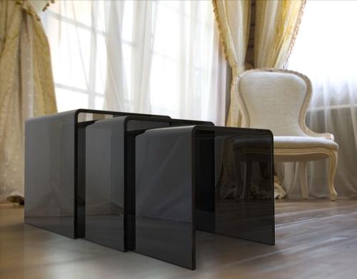 HYORIS table-gigogne-ghost-gris-fumé-verre-courbé-a-chaud-nt004g-1-c